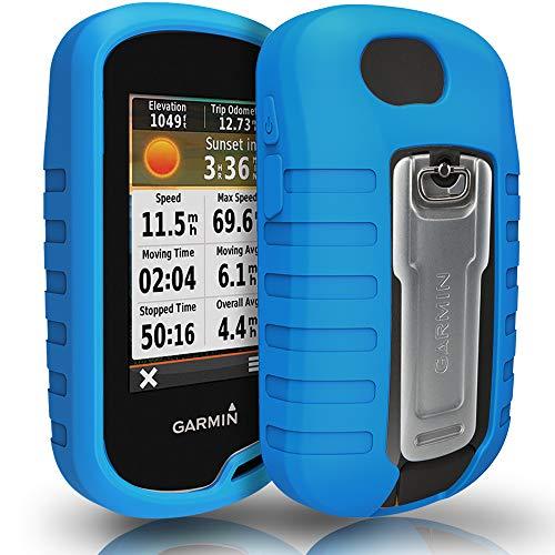 TUSITA Hülle für Garmin Oregon 600 600t 650 650t 700 750 750t - Schutzhülle aus Silikon - Handheld GPS Zubehör (BLAU) Handheld-gps