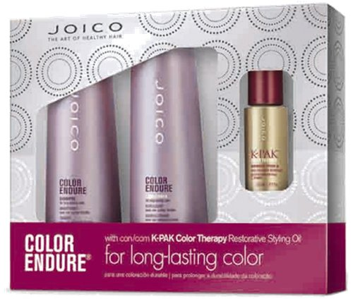 Joico Color Endure Shampoo 300ml and Conditioner 300ml with Color Therapy Restorative Oil 21.5ml Bn 21.5