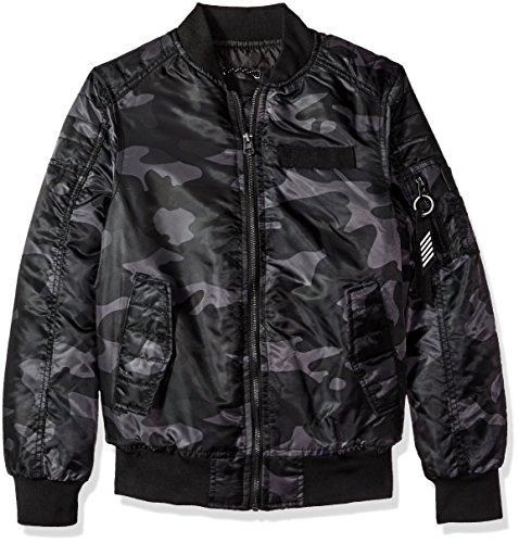 Southpole Jungen Ma-1 Camo Bomber Exaltation of larks Jacket With Biker Detail  Jacke  -  grau -