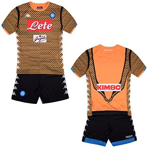 SSC Napoli Equipación de portero junior naranja fantasía, naranja, 10 anni