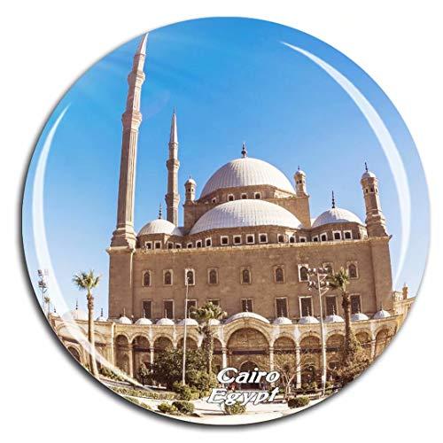 Weekino Kairo Zitadelle Ägypten Kühlschrankmagnet 3D Kristallglas Tourist City Travel Souvenir Collection Geschenk Starke Kühlschrank Aufkleber
