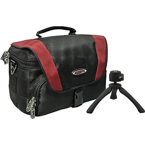 Per Adventure Pro Red Black Borsa per fotocamera con treppiedi da viaggio Rollei SY fotografico 310per Sony Alpha 6300600050005100NEX-7NEX-5con 16–50mm