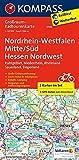 Nordrhein-Westfalen Mitte/Süd, Hessen Nordwest: Großraum-Radtourenkarte 1:125000, GPX-Daten zum Download: 2-delige fietskaart 1:125 000 (KOMPASS-Großraum-Radtourenkarte, Band 3706)