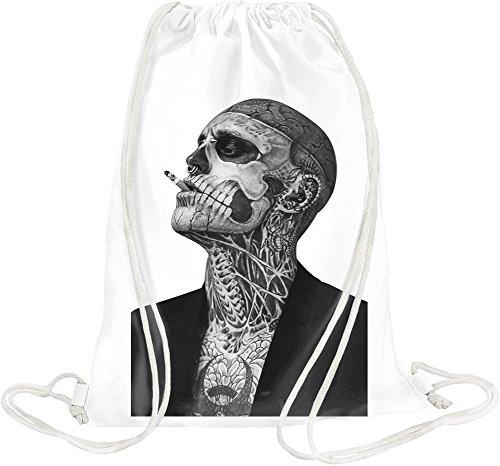Zombie Boy Rick Genest Tattoo Drawstring bag