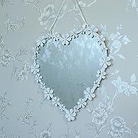 Margherita bianca cuore specchio