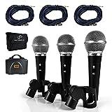 Best microphone vocal - Pyle kit de micro dynamique professionnel–3micros inclus–microphone vocal–cardioïde Review