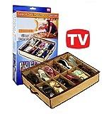 Schuh Aufbewahrungsbox von Oramics Unterbettkommode Flexible Aufbewahrung für Schuhe Unterbett-Box