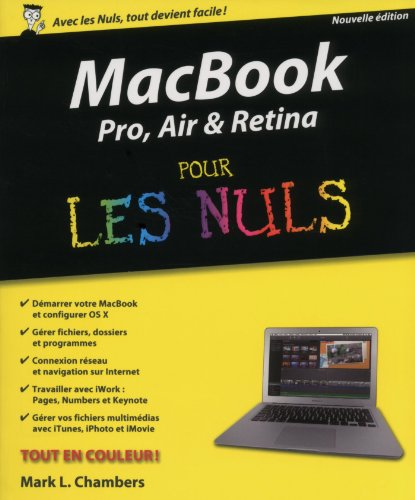 MacBook Pro, Air, Retina nouvelle édition Pour les Nuls