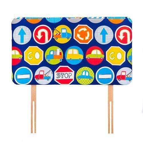 Ready Steady Bed ® Verkehrsschilder Design Children's 0.91 meters Bett-Kopfteil, für Einzelbett, gepolstert Schaumstoff,