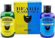 Shampoo en conditioner baardset. De perfecte combinatie voor het verzorgen en wassen van uw baard. Speciaal on