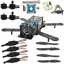 LHI 250mm Pro Pure Carbon Fiber Quadcopter Frame + CC3D Flight Controller + MT2204 2300KV Motor + Simonk 12A ESC + 6030 CF Propeller Prop