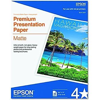 Epson Premium Presentation Paper Matte 8 5 Quot X 11 50