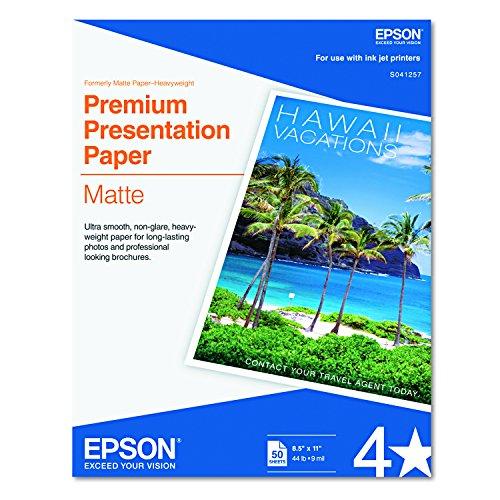 'Epson Premium Presentation Paper Matte–8.5