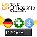 Microsoft Office 2010 Professional Plus 32/64Bit DISOGA® USB-Stick inkl. Lizenzkey