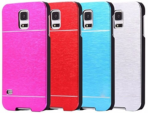 Metal Lined SPower Series Aluminium Hard Back Case Cover For Samsung Galaxy S5 Colour - Pink