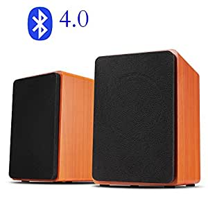 artchros desktop stereo bluetooth lautsprecher f r handy pc 3 zoll paar rotes holz. Black Bedroom Furniture Sets. Home Design Ideas