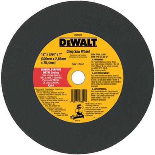 DeWalt DW8004 12 x 7/64 x 1 General Purpose Chop Saw Wheel - Metal by DEWALT