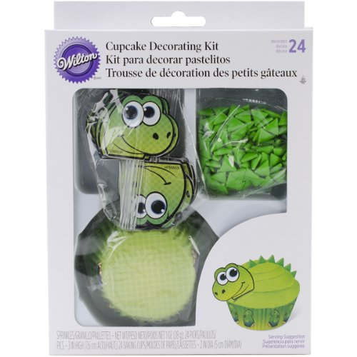 Wilton Dino Muffin Dekoration-Set - Grün.