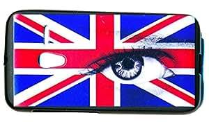 Housse Coque gel de protection pour Orange Rise 30 Alcatel Pixi 3 OT 4013 4013A 4013D (4) motif drapeau UK oeil