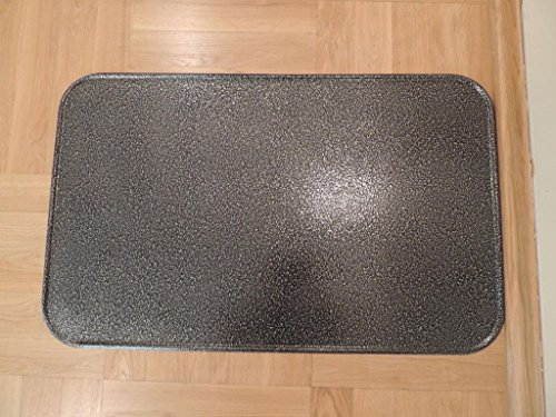Kaminoflam / Platte unter dem Ofen / Bodenblech für Kaminofen / Funkenschutzplatte Kamin / Kaminblech Boden / Kaminbodenplatte für Ofen / Kaminplatte Funkenschutz (50 x 80 cm, altes Silber)
