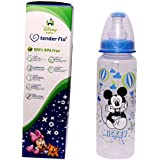 Tender Flo Disney Baby 250 ML 100% Bpa Free Blue Color Newborn Baby Feeding Bottle. Pack Of 3