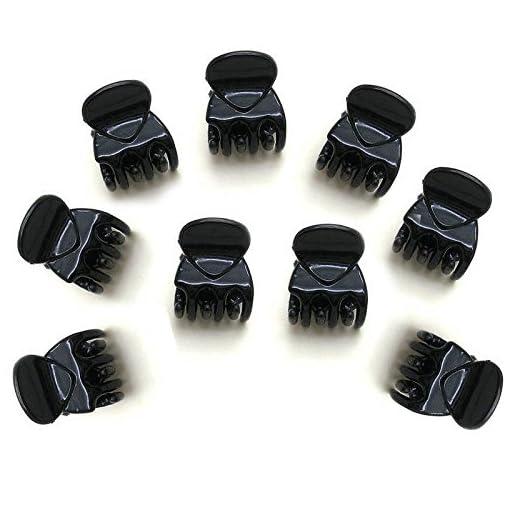 Starworld 12 Pieces Mini Black Hair Claw Clamp, Hair Accessories Clip Hairpins Women, Girls