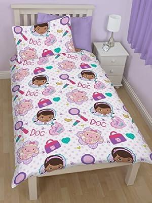Disney Doc McStuffins Junior Rotary Duvet Cover Bed Set - inexpensive UK light store.