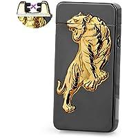 Accendino USB batteria elettrico doppio Arc Pulse senza fiamma torcia al plasma UK–Tigre Design