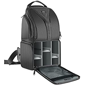 Neewer Camera Sling Backpack Case 9.8x7.9x16.9 Inches/24.9x20x42.9 Centimeters Waterproof Lightweight and Durable for DSLR and Mirrorless Camera (Canon Nikon Sony Olympus Fujifilm Panasonic) Gray