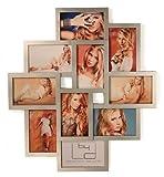 Fotocollage Bilderrahmen 55x50 mit Glasscheiben für 10 Fotos 10x15cm Silber Fotogalerie Fotorahmen Bilderrahmen Collage