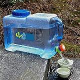 SAWEY 12L Auto-Wasser-Eimer, selbstfahrendes Auto Portable PC Verdickte Wasser-Behälter mit auslaufsicherem Hahn, wiederverwendbarer Plastikwasser-Flaschen-Gallonen-Krug-Behälter