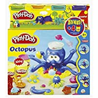 Play-Doh 20472148, Bundle Octopus Playset with Additional 4-Piece Set Large Modelling Compound Tubs