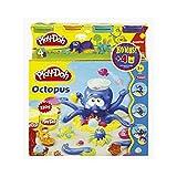 Play-Doh 20472148 - Octopus Spielset mit 4er Pack Knetdosen extra