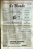 MONDE (LE) [No 13580] du 25/09/1988 - ESPOIRS POUR L'AFRIQUE AUSTRALE - LES CANTONALES SONT UN TEST PARTIEL APRES CINQ MOIS DE GOUVERNEMENT ROCARD - LE TRIOMPHE DE BEN JOHNSON PAR ALAIN GIRAUDO - L'AGONIE DE HIROHITO - LE MATCH BUSH-DUKAKIS - LA VACANCE PRESIDENTIELLE AU LIBAN - L'AGITATION NATIONALISTE EN UNION SOVIETIQUE - POUSSEE DE LA CROISSANCE AMERICAINE - GUIDO RENI A LA PINACOTHEQUE DE BOLOGNE - LA GREVE DANS L'AUDIOVISUEL - LES CONFLITS DANS LE TRANSPORT AERIEN - IL Y A CINQUANTE ANS,