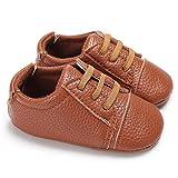 Chaussures bébé,Xinan Chaussures Fille Cuir Souple Chaussures premiers pas Dessin Animé 0-18Mois 6 Couleurs (marron, 6-12M)