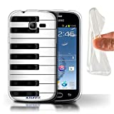 Coque Gel TPU de Stuff4 / Coque pour Samsung Galaxy Trend Lite/S7390 / Piano Design / Clés/Boutons Collection