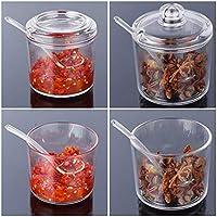 Especias Juego de vasos con tarros mermelada reutilizables Bote de cristal (alta calidad redonda cristal