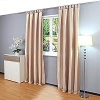 Figura gräfe stayn cortina de ambientes de alrededor de 140 x 245 cm opaca y el calor de cortina aislante