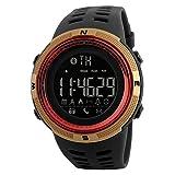 nicerio 1250Smart Watch Schrittzähler Kalorien Uhren wasserdicht Uhren Digitale Uhren Sport im Freien (rot und gold)