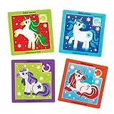 Baker Ross Rompecabezas deslizantes de Unicornio Festivo (Paquete de 8) - Artes y Manualidades navideñas