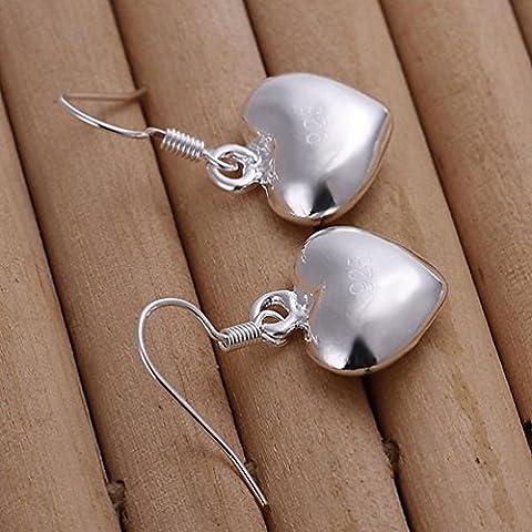 Kleine Fette Herz Ohrringe Einfache Herzform Silber Ohrringe Dame / Edelstahl / Anti-allergisch / Silber Blinkend / Klein und Exquisite / Zirkonia Gemacht / Haken Ohrringe,Zahl