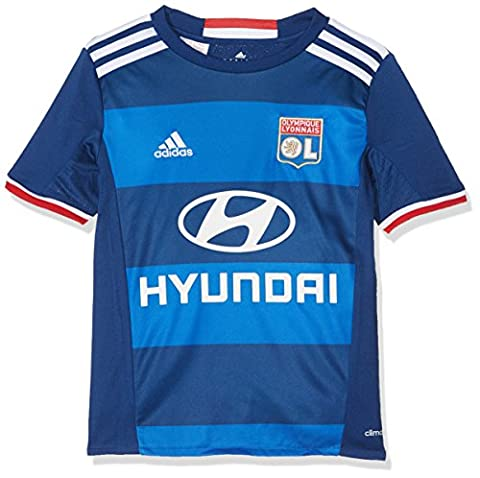 adidas Olympique Lyon Maillot de football Enfant Bleu Foncé/Blanc/Bleu FR : 140 (Taille Fabricant : 140)