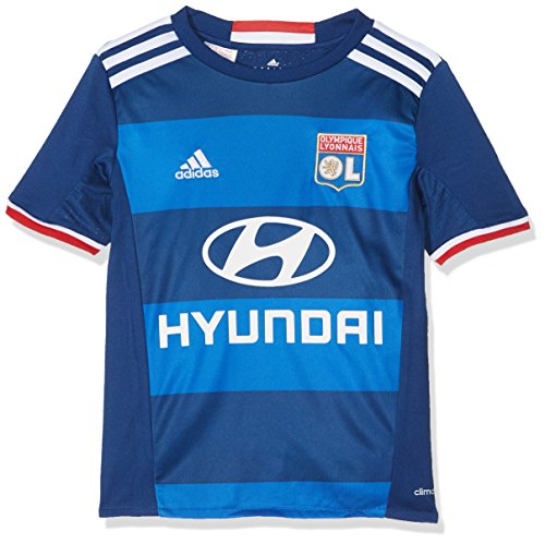 adidas Kinder Olympique Lyon Replica Trikot, Dark Blue/White/Blue, 152