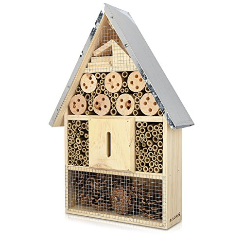 Navaris XL Wooden Insect Hotel -...