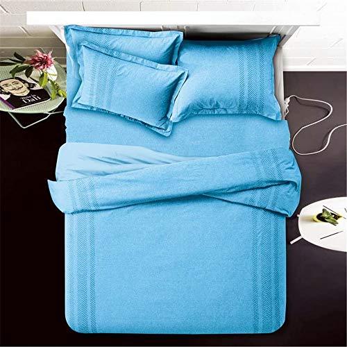 YUNSW Einfache Karikaturdruck Bettbezug Kissenbezug Heimtextilien Twin Queen King Size Bettwäsche Set I 200X230cm / 79X91In -