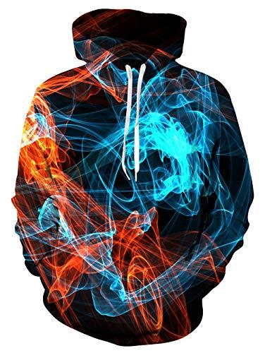 ALISISTER 3D Rauch Gedruckt Hoodie Für Männer Damen Hoodies Pullover Sweatshirt Lässig Jungen Mädchen Kapuzenpullover XXL
