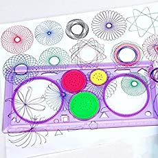 Pmw Spirograph - Geometric Ruler Drafting Tools Stationery Drawing Set (Random Colour) Pack of 2
