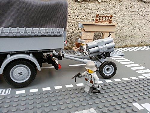 Modbrix 2182 – Bausteine Nebelwerfer 41 Stellung inkl. custom Wehrmacht Soldaten aus original Lego© Teilen - 4