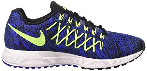 Nike Air Zoom Pegasus 32 Print, chaussure de course homme Bleu / Lima / noir (Racer Blue/Volt-Black)