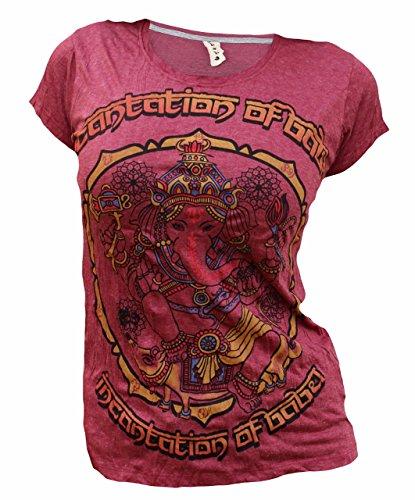 Yoga Tees - Omtimistic Damen Hindu Gott Ganesh Om Symbol T-Shirt Medium